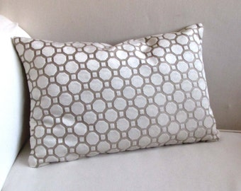 VELVET  PILLOW in pearl ivory 12x18 12X20 12X22 12X24 includes insert