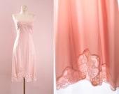 Vintage Olga Seashell Pink Full Slip Size XXS 32 Bust