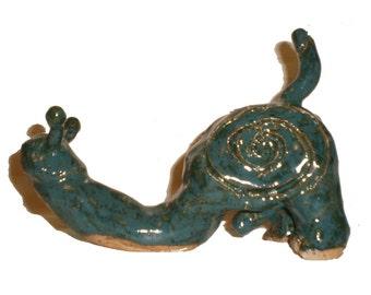 Snail Headed Phallic Ceramic Sculpture