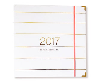 weekly planner / dream.plan.do. 12-month 2017 planner PREORDER (paint stripe)