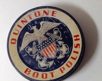 Fun Vintage Tin, Vintage American, Quintone Boot Poslish, American Eagle