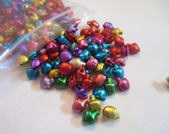 50 Mixed Color Bells Jewelry Craft Supply
