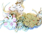 30 Gift Tags, Thank You Tags, Hang Tags, Funky Flowers, Different Designs