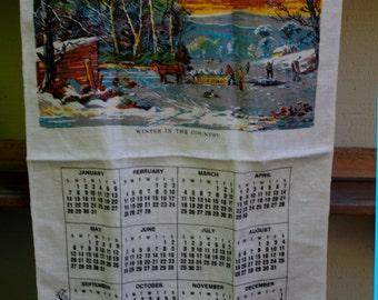 Vintage Tea Towel Calendar Year 1979