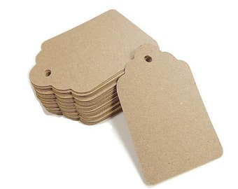 "Kraft Paper Tags, Wedding Place Cards, Kraft Tags, Hang Tags, Rustic Wedding, Vintage Wedding, 3 1/8"" x 2"" Set of 50"