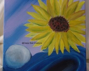 Sunflower painting original fine art