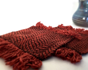 Roaster Coaster Handwoven Coaster in Burnt Orange and Brown