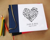 Custom Music Wedding Guest Book. Guest Book for Musicians. Musician's Wedding Guestbook. Composer's Musical Guest Book.