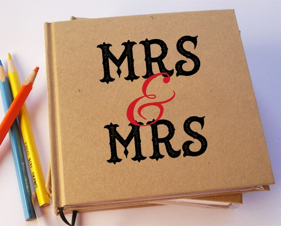 MRS. & MRS. Love won! Lesbian Gay Wedding Guest Book. LGBT Anniversary Journal. Same Sex Wedding Guest Book. Gift for Bride.