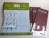 Théâtre de l'association American Musical et dramatique Académie souvenirs Brochures 1960s 1970s, NYC Acting School Info, école de théâtre à New York