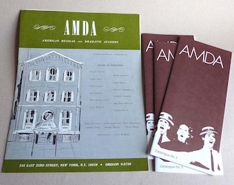 AMDA American Musical Theatre and Dramatic Academy Memorabilia Brochures 1960s 1970s, NYC Acting School Info, Theatre School New York City