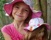 Doll sun hat for 18-inch dolls like American Girl or Our Generation, cute doll clothes hat