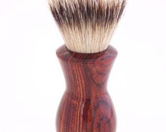 Cocobolo Wood 24mm Super Silvertip Badger Hair Shaving Brush Handle (Handmade in USA) C1 - Anniversary Gift - Men's Gift - Executive Gift