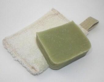 Zero Waste Soap Saver bags made with Hemp and Organic Cotton by Aquarian Bath - Go green - ecofriendly - hand towel - washcloth or dishcloth