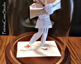 GOLFER Business Card Sculpture  -or any figure, hobby, sport or Profession Design NO. 8950M = Male, 8950F = Female