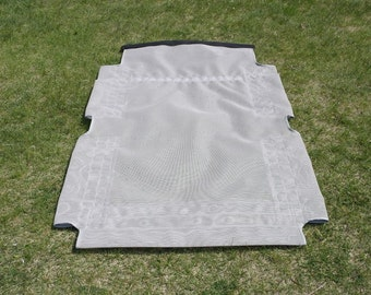 Raised Pipe Bed Replacement Cover, Pet Bed Replacement Cover, Replacement Dog Bed Cover Rectangle 39x56 OR 38x55 Choose CANVAS Or Mesh Cover