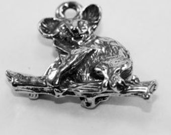 Koala Pendant on tree branch made with quality Australian Pewter AF519