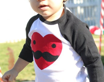 I Heart MUSTACHES Unisex Valentines Day Tee ADULT Sizes S-XXL