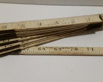 Wood folding measure