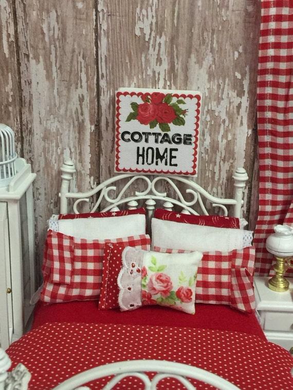 "Miniature Cottage Home Canvas Sign 2"" x 2"""