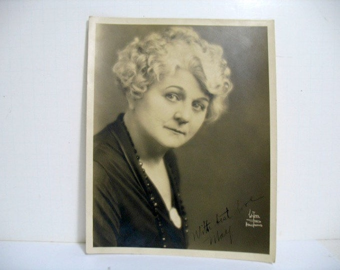 Photo of May Mcavoy by Witzel, Hollywood Silent Movie Star, Signed, Ben-Hur Jazz Singer