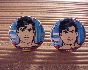 Superman Cuff Links / Comic Book Cufflinks