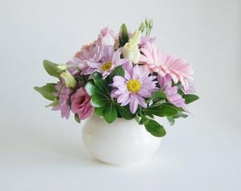 White Ceramic Vase - Handmade Vase - Porcelain White Vase - White Vase - Ceramic Vase