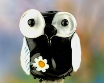 Tilly........ lampwork owl bead...... sra