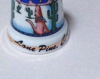 Collectible thimble, Lone Pine CA, thimble, vintage thimble