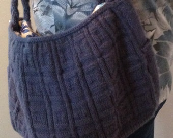 Large hand knit bag