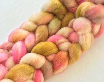 """BFL wool top, dyed, 'Bloom""""', 4.0 oz."""