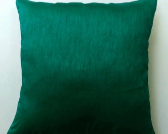 Jade green art  silk pillow.  throw pillow. silk  decorative pillow   on discount.  18 inch pillow cover. below price  is  for 2 pcs