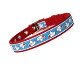 SALE - sailors valentine metal buckle dog collar (3/4 inch)