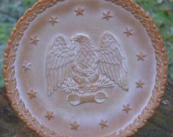 Fenton Glass Eagle Plate