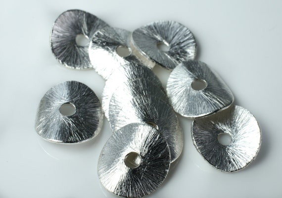 Silver Plate Wavy Disk