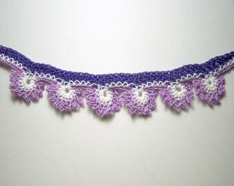 purple daisy crochet choker