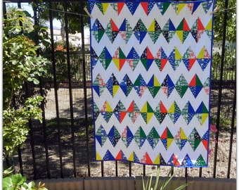 Water Land Baby Quilt for a Boy or a Girl