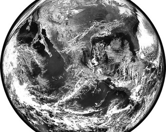 planet earth astronomy printable art image digital download art prints printable poster space satellite image black and white art