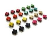 100 Ivory Howlite Beads