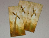 Cross image of the wooden cross| one sided paper bookmark| printed, laminated with eyelet| Buy 2 or more get 1 a gift