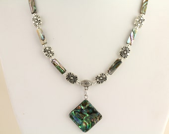 Abalone Necklace. Listing 464112375