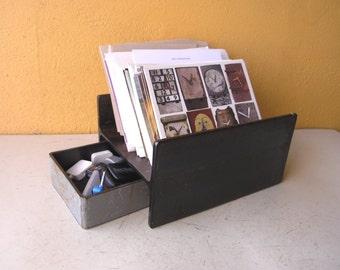 Upcycled I-Beam Letter Organizer + USB Tray, Catch all Dish, Envelope Paper Tray Desk Organizer, Boyfriend Gift, Desk Storage Tray, Desk set