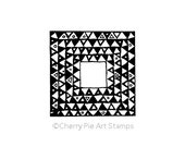 Decorative square by Gustav KLIMT - CLING rubber STAMP by Cherry Pie Art Stamps