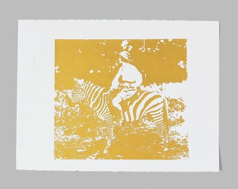 Osa Johnson Print - Gold