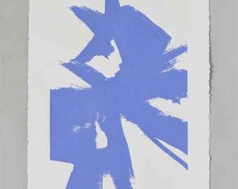 Large Abstract Sketch #1 Print - Lavender Blue