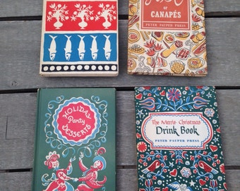 Peter Pauper Press Cookbook Collection: Merrie Christmas Drink Book, ABC of Canapes & more