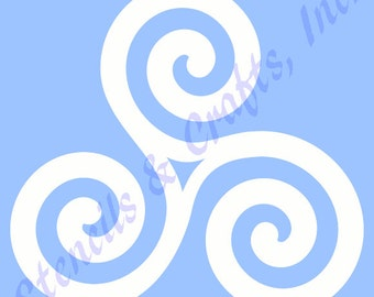 "5"" CELTIC STENCIL stencil stencils triskelion template templates craft pattern sunflower sunflowers sun scrapbook crows paint background new"