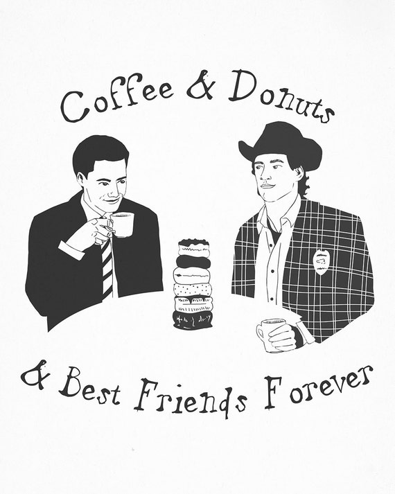TWIN PEAKS Agent Dale Cooper and Sheriff Harry Truman Small Print