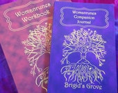 Womanrunes Companion Books. Workbook and journal set (divination, books, oracle cards, red tent, runes, oracle)