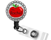 ON SALE - Personalized Teacher Apple ID Badge Reel - Gifts for Teachers, Teacher Lanyard, Thank You Gift, Back to School, Teacher Badge